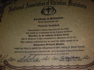 NACM Ordination